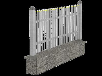 Aluminijumske ograde palisada - Leo