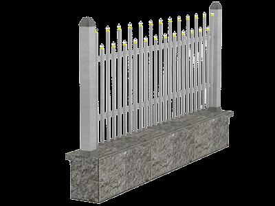 Aluminijumske ograde palisada - Lynx