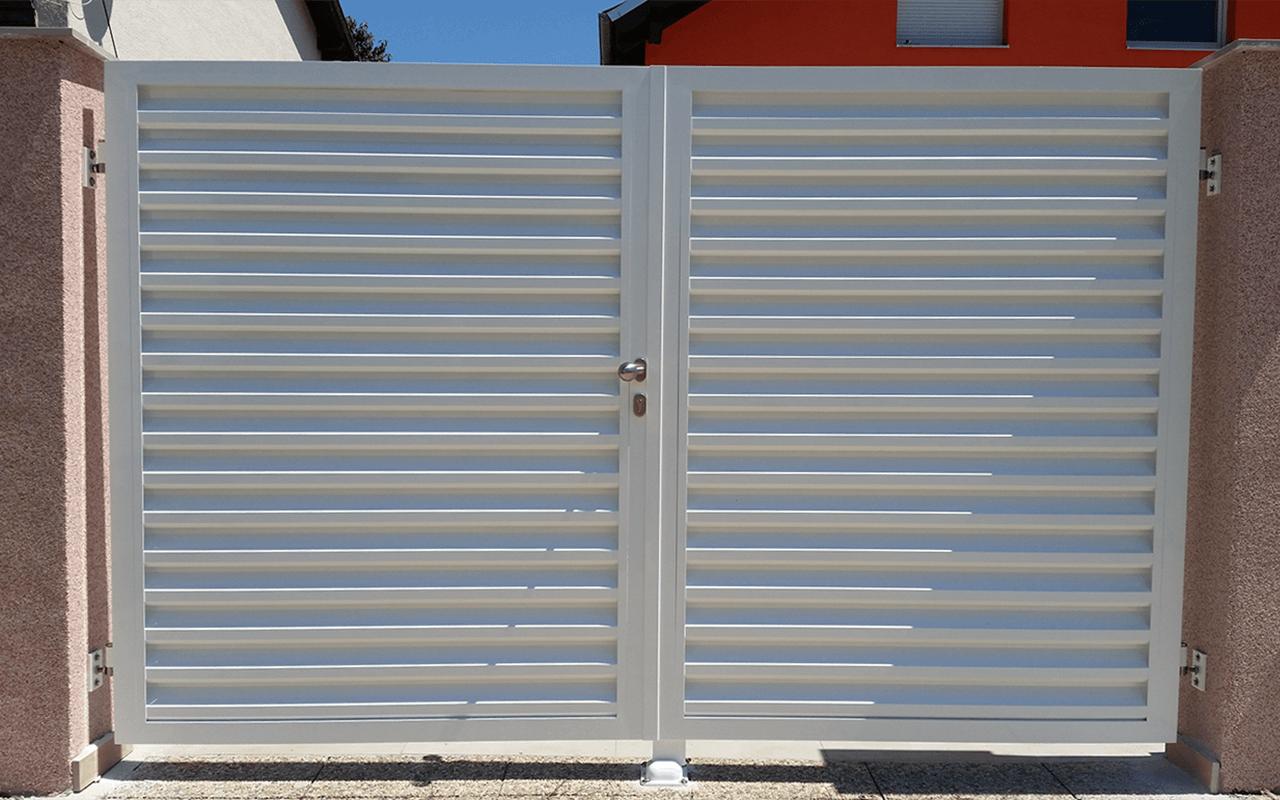 Aluminijumske dvokrilne kapije