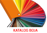Aluminijumske ograde - RAL katalog boja