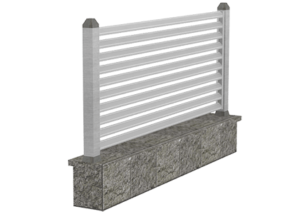 Aluminijumske ograde modern - Scutum