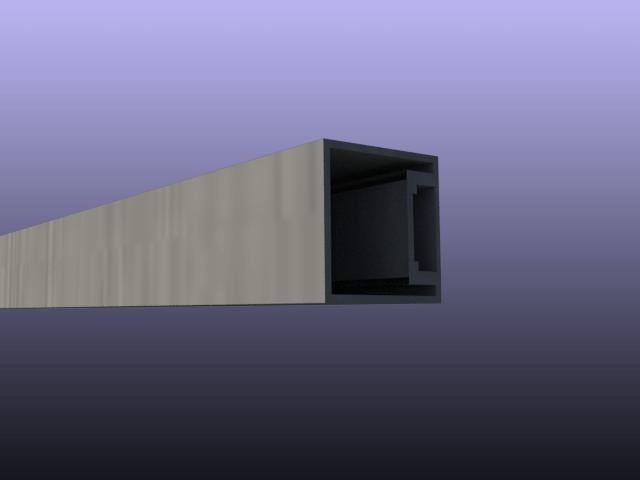 Specijalni aluminijumski profil 40x40 mm